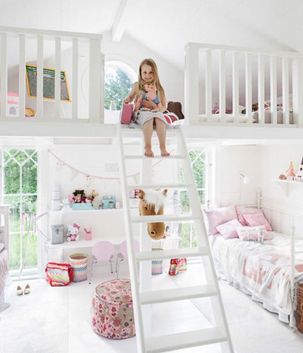 little girls bedroom ideas | bedrooms is designed for two little girls has  two parts bed the top .