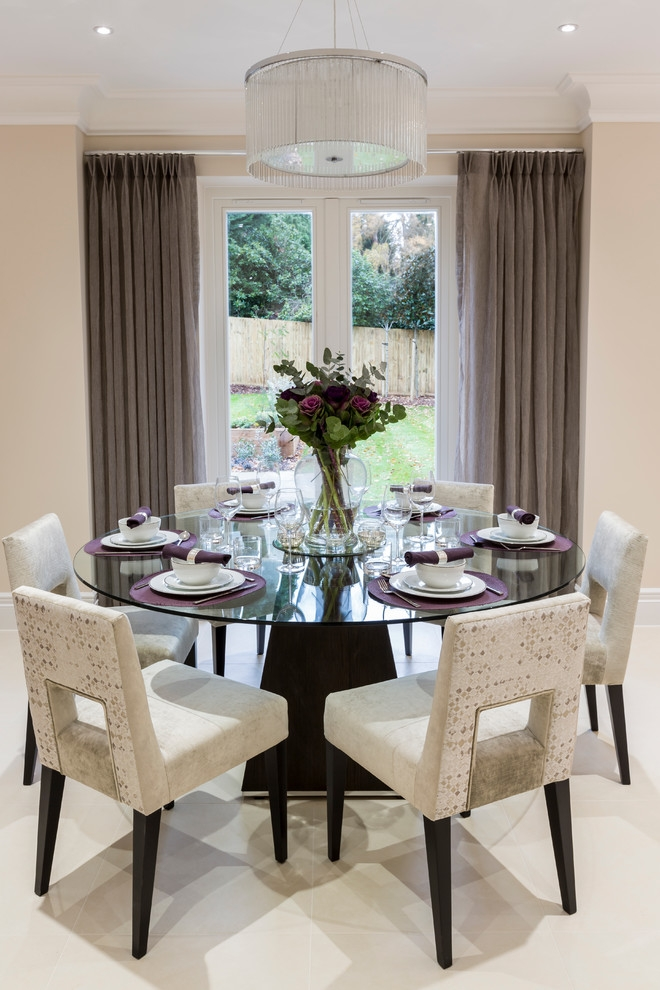 Decorative Dining Room Transitional Design Ideas For French Round Round Dining  Room Table Decorating Ideas Round