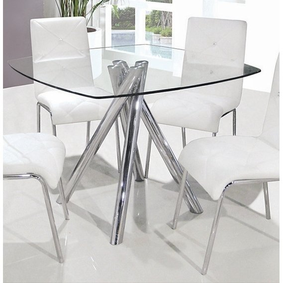 Shop Best Master Furniture Square Glass Dining Table - Silver - Free  Shipping Today - Overstock - 19533640
