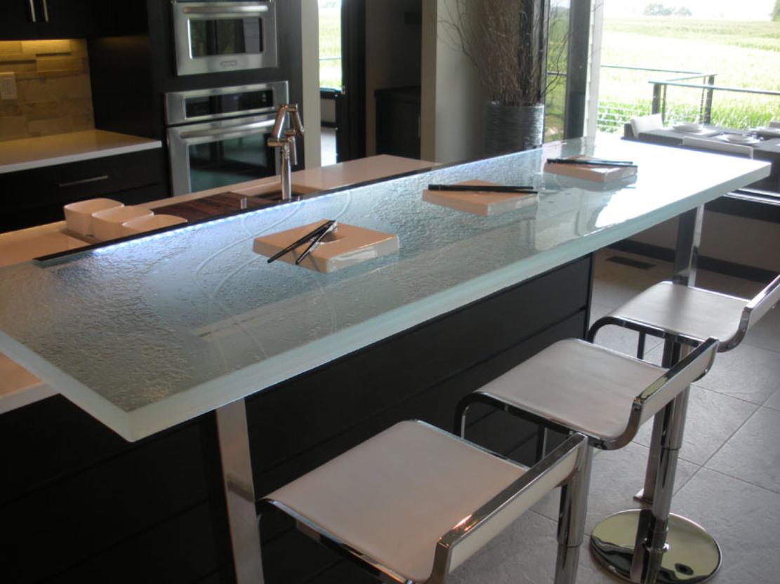 Glass Table Top. Sink 3