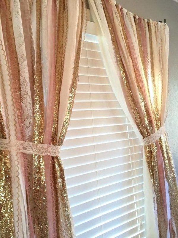 Curtain For Girls Bedroom Big Girl Rooms A Pink And Gold Sparkle Sequin  Garland Curtain Curtain Ideas For Teenage Girl Bedroom