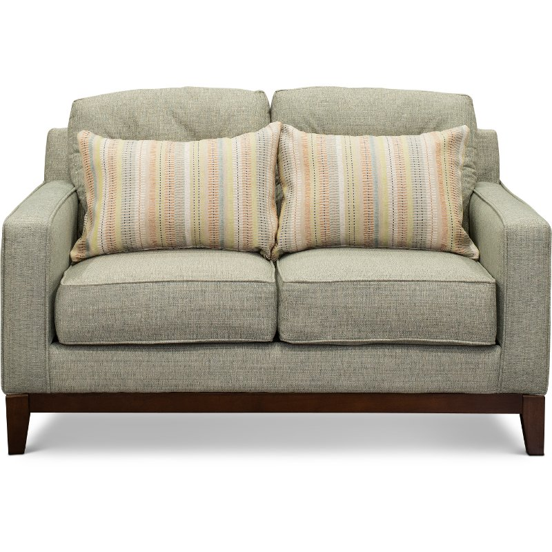 Classic Contemporary Mist Green Loveseat - Macintosh | RC Willey Furniture  Store