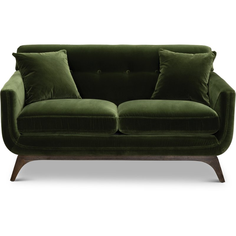 Mid-Century Modern Olive Green Loveseat - Falkirk | RC Willey Furniture  Store