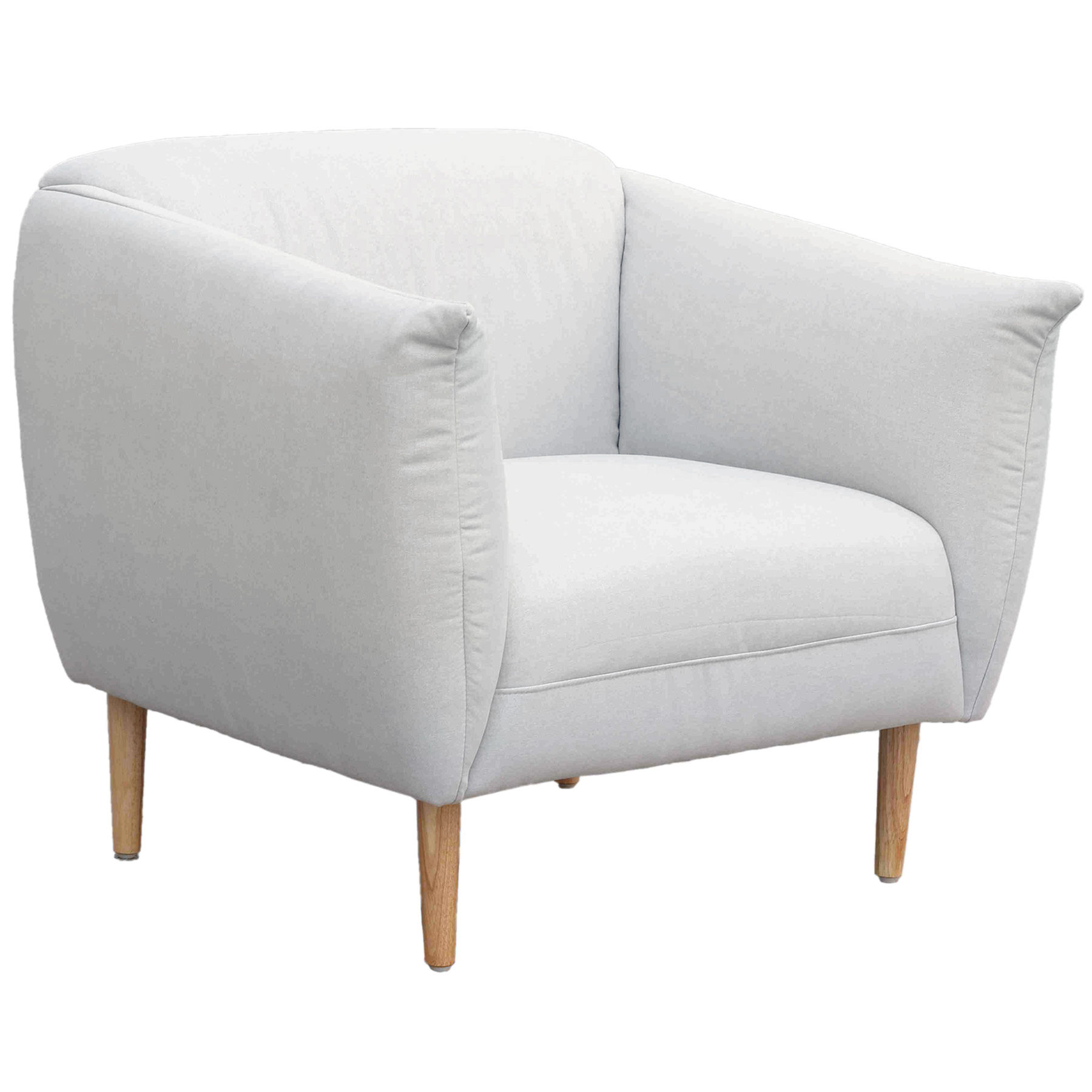Q1 Overstuffed Occasional Chair, Light Grey