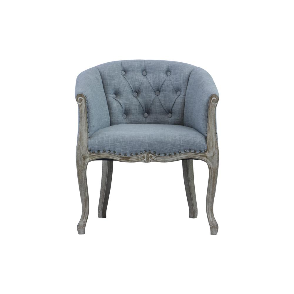 Lux Home Jocelyn Upholstered Grey Occasional Chair