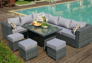 Image is loading Yakoe-Papaver-9-Seater-Rattan-Garden-Furniture-Corner-