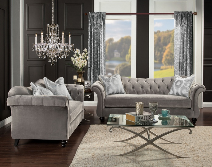 Sofa. outstanding grey tufted couch 2017 design: grey-tufted-couch