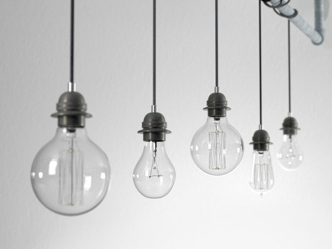 Industrial Hanging Light Bulbs 3D model | CGTrader