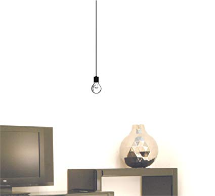 Amazon.com: Hanging Light Bulb wall decal sticker: Home & Kitchen