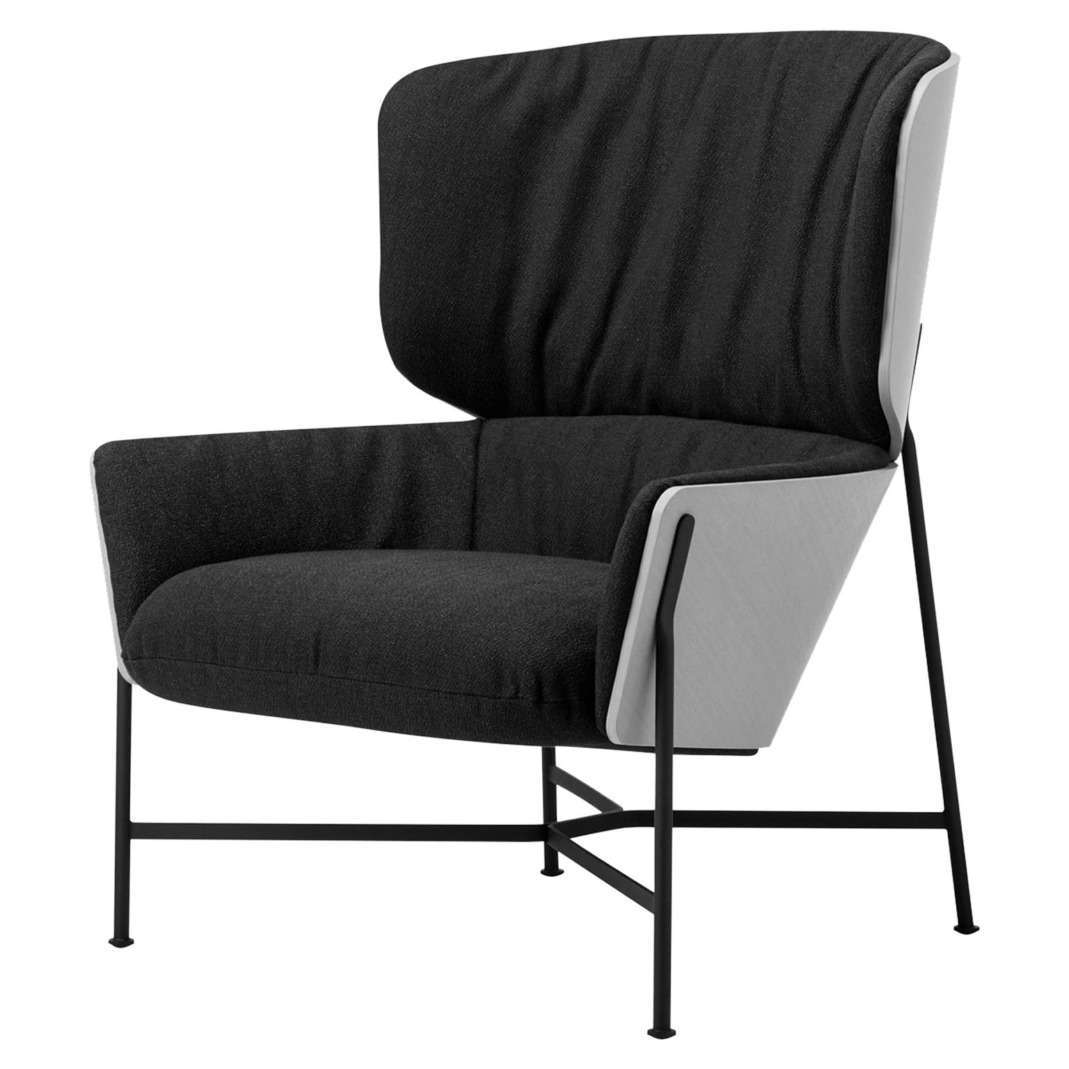 Caristo High Back Armchair Upholstered in Leather or Fabric with Ashwood  Shell For Sale