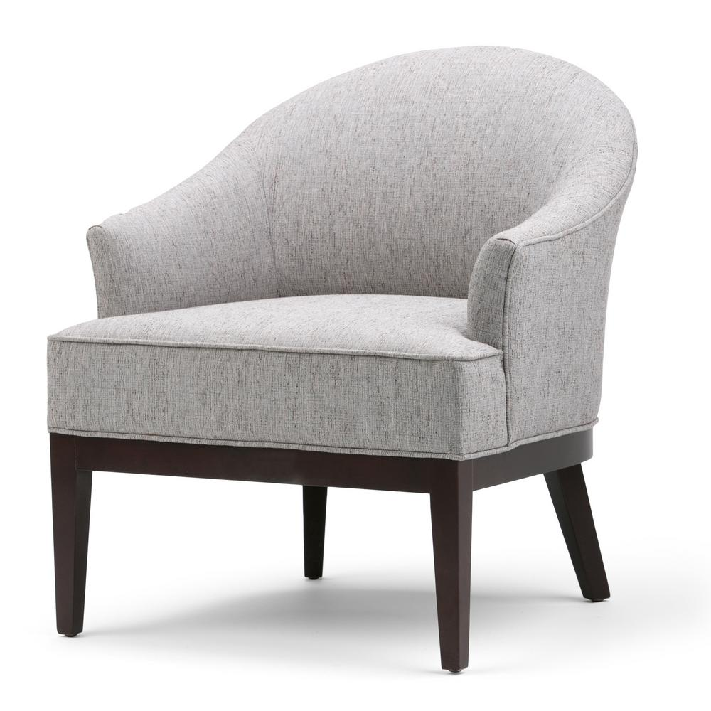 Louise Tub Chair in Grey Linen Look Fabric
