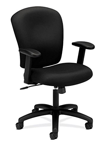 HON HVL220.VA10 Mid Back Task Chair - Fabric Computer Chair with Arms for  Office