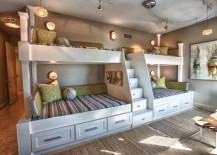 Moda Bunk Bed by R&B comes with smart storage options