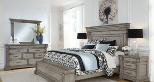Classic Traditional Gray 4 Piece King Bedroom Set - Madison Ridge | RC  Willey Furniture Store