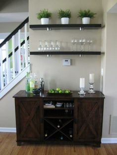Kitchen buffet idea but in a different color Bar In Dining Room, Beige  Dining Room