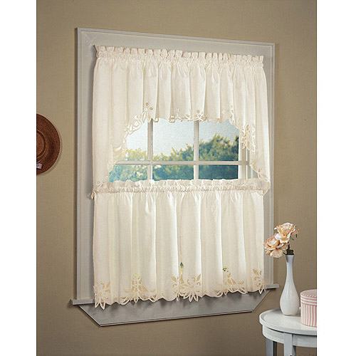 CHF & You Batternburg Rod Pocket Kitchen Swag Kitchen Curtains Set of 2 or  Valance - Traveller Location