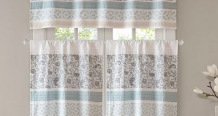 August Grove Chambery Printed and Pieced Rod Pocket Kitchen Curtains &  Reviews | Wayfair
