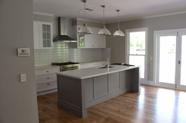 My Paint Pots blog - kitchen paint colours are Dulux Ghosting on the wall  and Dulux Lexicon for trims