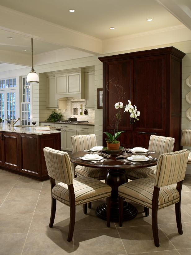 Elegant Kitchen With Breakfast Area