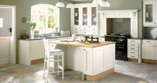 Decoration, Minimalist Room Sage Green Paint Colors For Kitchens With White  Cabinets And Island With Butcher Block Countertop And Travertine…