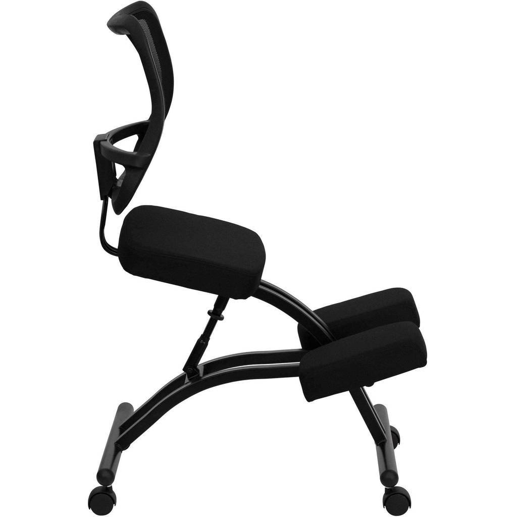 Mobile Ergonomic Kneeling Chair with Curved Mesh Back | SitHealthier – Sit  Healthier