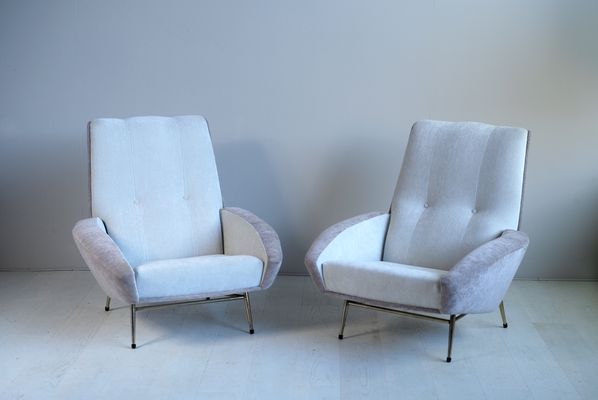 Large Armchairs by Guy Besnard, 1960s, Set of 2 1