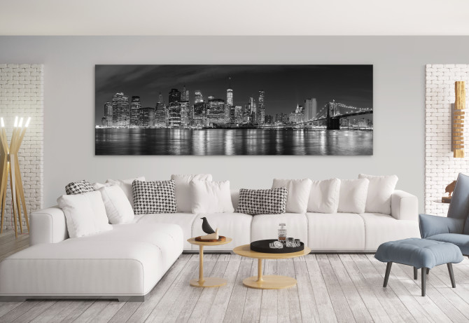 Large wall art - how to supersize your style with large canvas prints