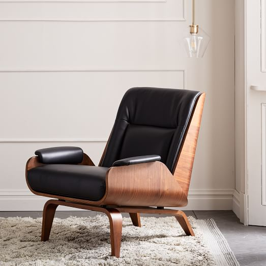 Paulo Bent Ply Leather Chair | west elm