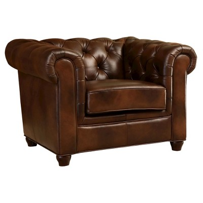 Keswick Tufted Leather Armchair - Abbyson Living