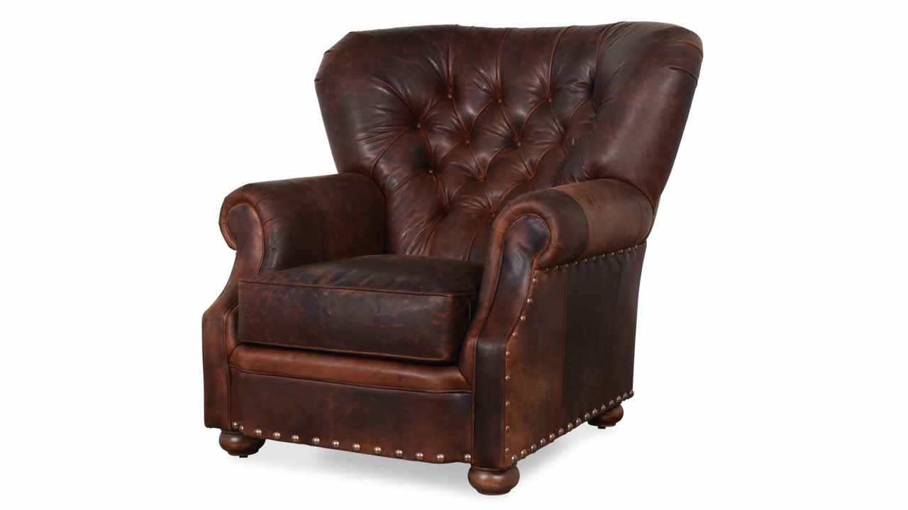 Winston Leather Wingback Chair