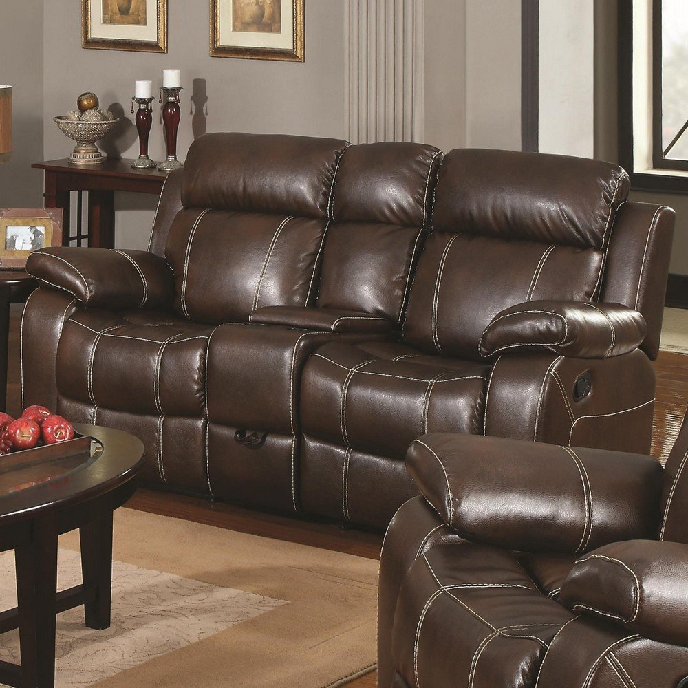 Traveller Location: Double Gliding Loveseat w/ Cup Holders by Coaster: Kitchen &  Dining