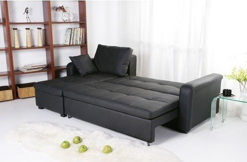 Leather sectional sleeper sofa with chaise 2