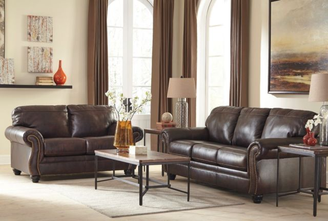 Ashley Furniture Bristan Leather Sofa and Loveseat for sale online