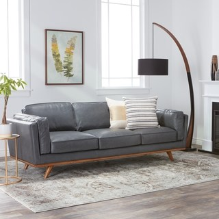 Buy Grey, Leather Sofas & Couches Online at Overstock | Our Best Living  Room Furniture Deals
