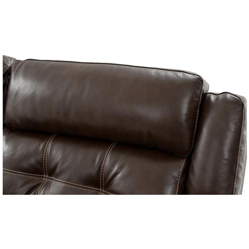 Stallion Brown Power Motion Leather Sofa w/Right & Left Recliners alternate  image, 5