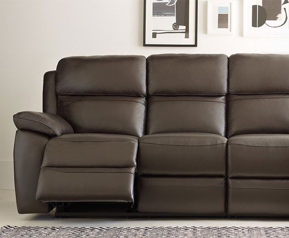 Leather Sofa With Recliner Brilliant Sofas And Corner Suites Harveys  Furniture Intended For 1