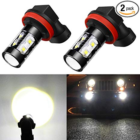 Amazon.com: Alla Lighting H11 LED Fog Light Bulbs Super Bright H11