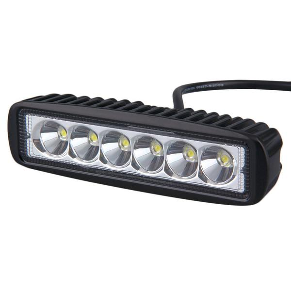 6 Inch 18Watt LED Light Bar Complete With Bracket & Fixings, 10-30V