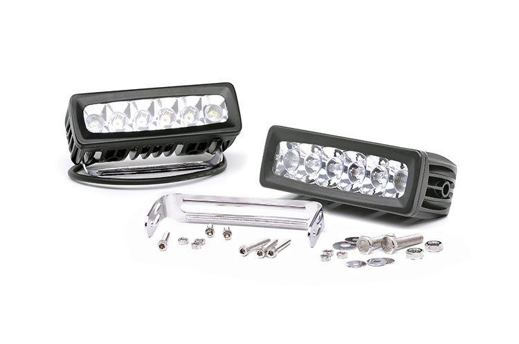 6-inch Adjustable Base Mount Cree LED Straight Light Bar (Pair