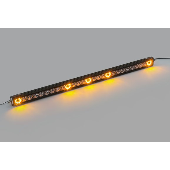 Quadratec J5 LED Light Bar with Amber Clearance Cab Lights | Quadratec