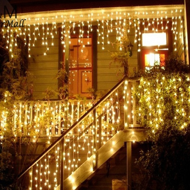 Christmas Lights Outdoor Decoration 3.5m Droop 0.3 0.5m Led Curtain