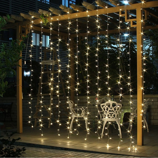 3Mx3M 300 LED Outdoor Holiday Lighting Christmas Decorative xmas