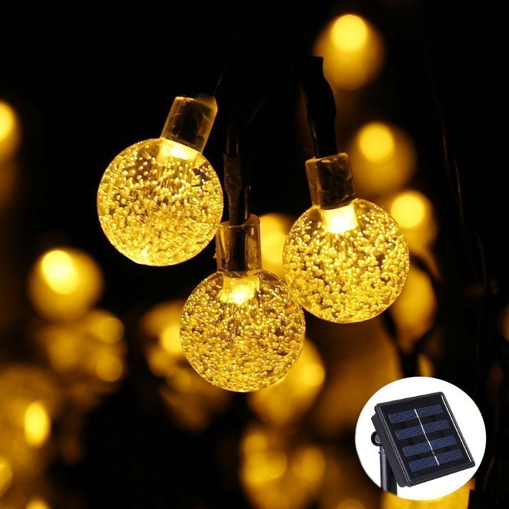 Qedertek Christmas Lights LED String lights Landscape Solar String