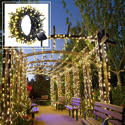 Amazon.com : Solar LED String Lights Outdoor, Warm White Christmas