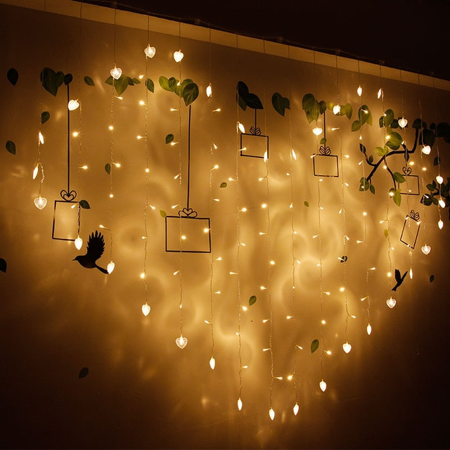 DX 220V Curtain string lights christmas new year decoration