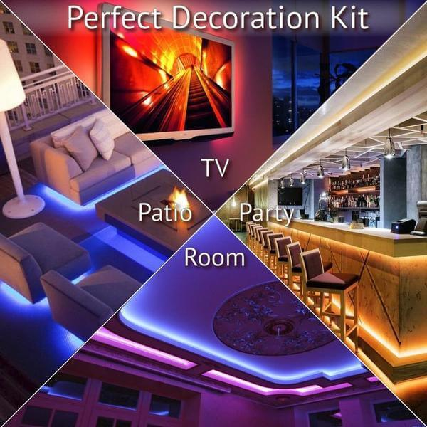LED STRIP LIGHTS KIT WITH 44 KEY REMOTE CONTROLLER | StoreSixty.com