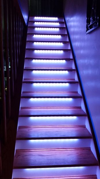 LED NEOPIXEL MOTION SENSOR STAIR LIGHTING