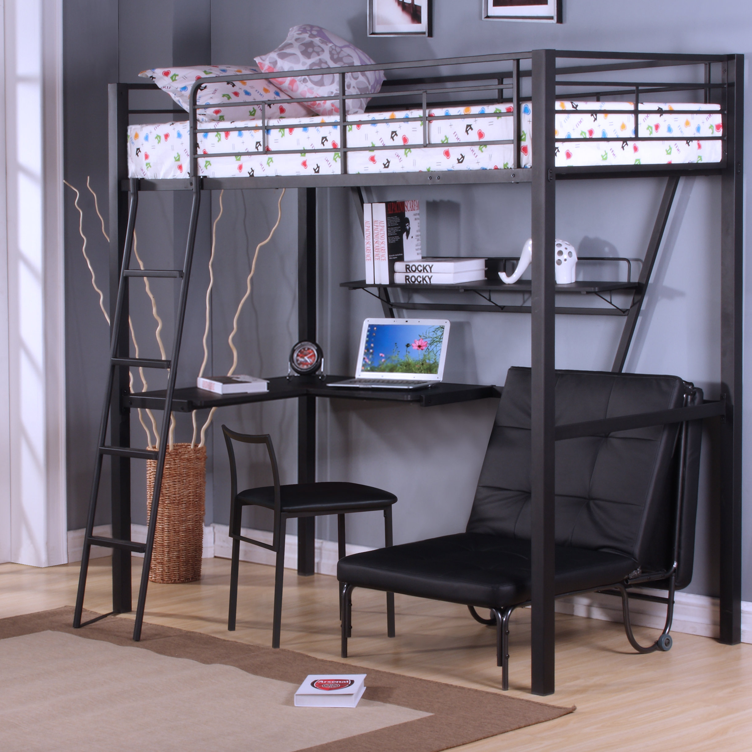 Cleary Loft Bed with Desk