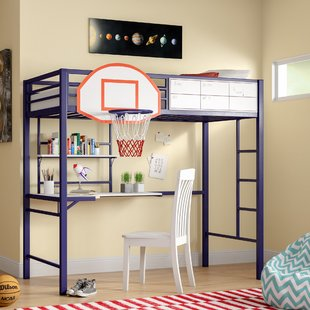 Loft Bed With Desk And Drawers | Wayfair