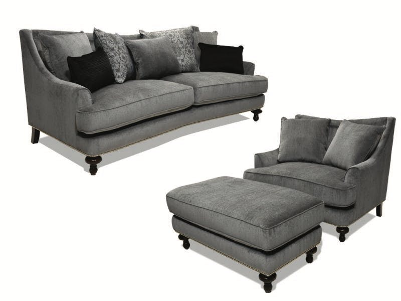 Fairmont Designs Maryland Sofa, Love, Chair & Otto, 55&#34 TV FREE